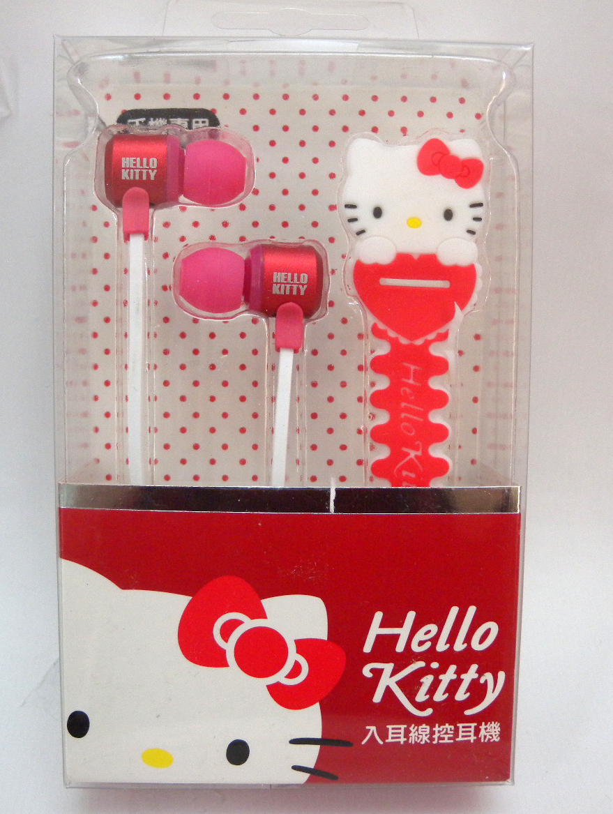 音響耳機_Hello Kitty-入耳線控耳機附集線器-紅