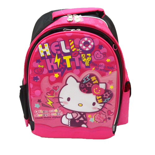 書包背包_Hello Kitty-後背書包-微笑愛心紅