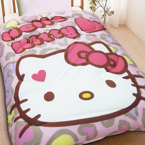 寢具_Hello Kitty-暖暖被- 摩登豹紋