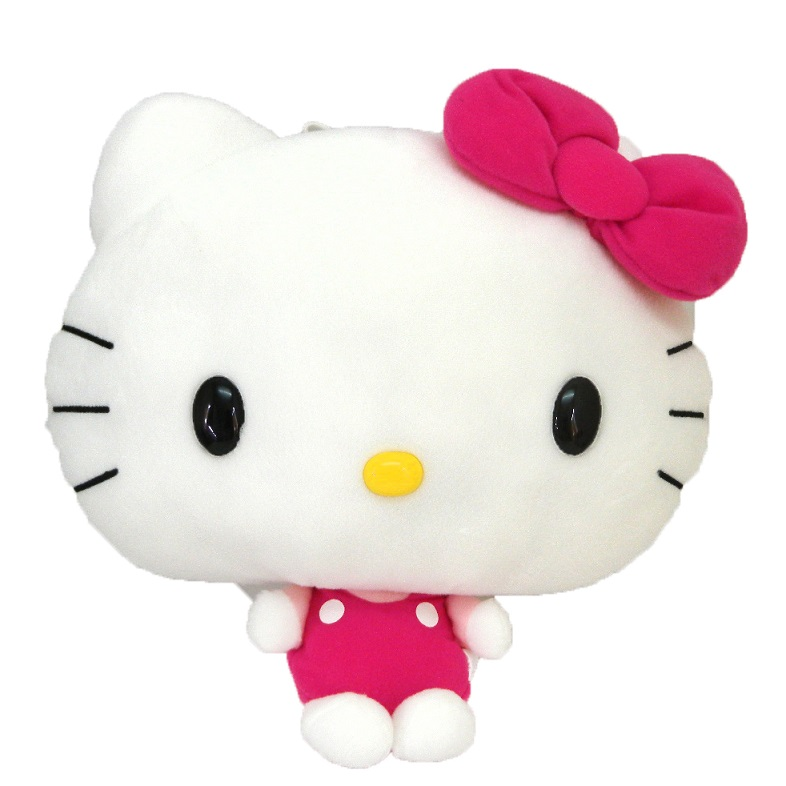 流行生活精品_Hello Kitty-絨毛娃27cm-大頭小身桃