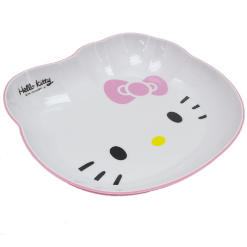 廚房用品_Hello Kitty-美耐皿造型盤-臉型粉