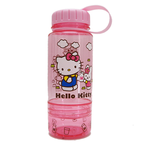 水壼_Hello Kitty-透明水壺350ML-喝牛奶
