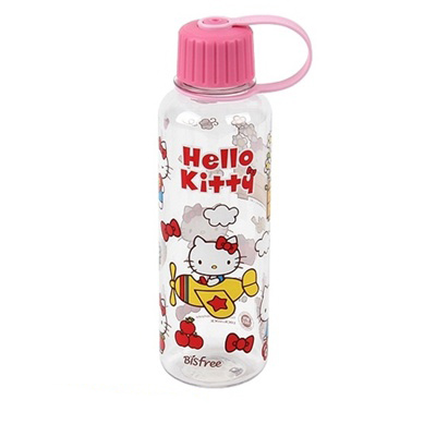 水壼_Hello Kitty-透明水瓶480ML-飛機