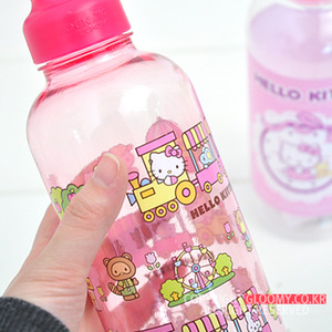 水壼_Hello Kitty-透明水瓶700ML-小火車