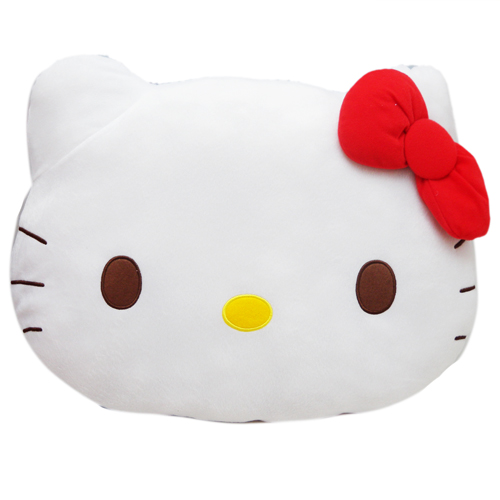 抱枕_Hello Kitty-頭型海洋和風抱枕-藍