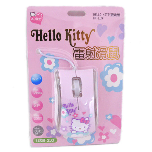 滑鼠鍵盤_Hello Kitty-雷射滑鼠-小花粉