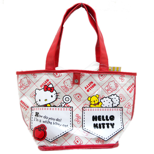 手提包袋_Hello Kitty-防水&帆布兩入提袋-口袋小熊