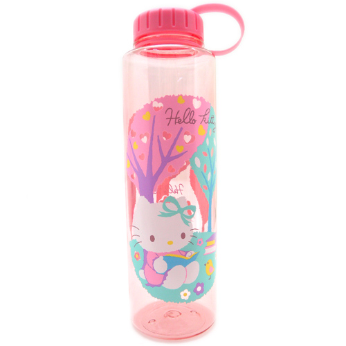 水壼_Hello Kitty-透明水壺1000ML-看書粉
