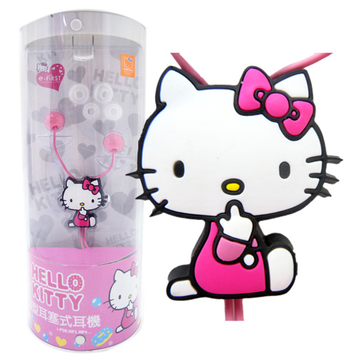音響耳機_Hello Kitty-糖果風造型耳機-側坐粉