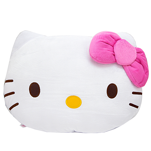 抱枕_Hello Kitty-粉結頭型大靠枕-L