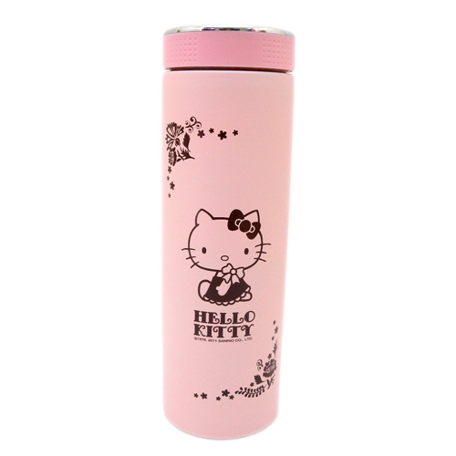 茶具杯子_Hello Kitty-亮彩真空隨手杯350ML-粉