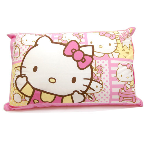 寢具_Hello Kitty-中枕-哇KITTY