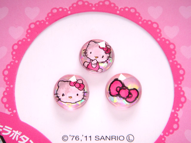 流行百貨_Hello Kitty-iPhone 4S HOME鍵貼紙-粉
