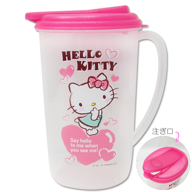 水壼_Hello Kitty-冷水壺-愛心粉