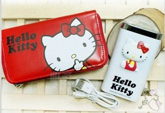 電子3C館_Hello Kitty-KT電力銀行附袋-側坐白